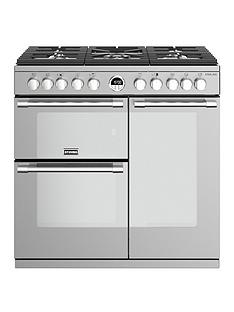 stoves-sterling-s900df-90cm-wide-dual-fuel-range-cooker-with-optional-connection-stainless-steel