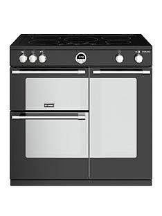 Stoves Sterling S900EI 90cm Wide Electric Range Cooker with Optional Connection - Black