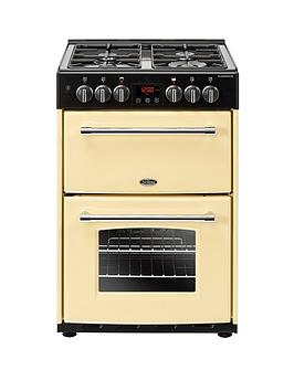 Belling 60Df Farmhouse 60Cm Wide Dual Fuel Cooker - Cooker With Connection