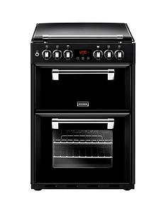 Stoves Richmond 600DF 60cm Wide Dual Fuel Cooker with Optional Connection - Black