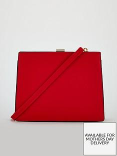 michelle-keegan-pix-frame-detail-shoulder-bag-red