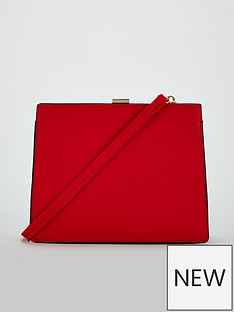 michelle-keegan-pix-frame-detail-shoulder-bag-red