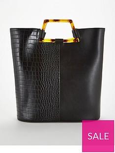 95d2dcaca77 V by Very Jasper Tort Handle Panel Tote Bag