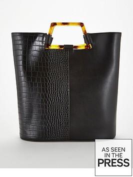 v-by-very-jasper-tort-handle-panel-tote-bag