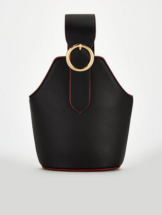 Black Handle Buckle Bag