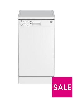 Beko DFS04010W 10-Place Freestanding Slimline Dishwasher - White