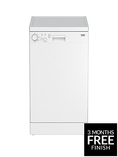 Beko DFS04010W 10-Place Freestanding Slimline Dishwasher - White Best Price, Cheapest Prices