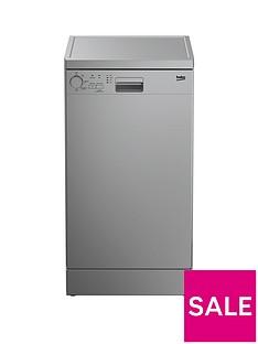 Beko DFS04010S 10-Place Freestanding Slimline Dishwasher - Silver