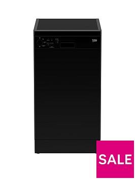 beko-dfs04010b-10-place-freestanding-slimline-dishwasher-black