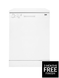 Beko DFN05310W 13-Place Freestanding Fullsize Dishwasher - White Best Price, Cheapest Prices