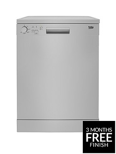 Beko DFN05310S 13-Place Freestanding Fullsize Dishwasher - Silver Best Price, Cheapest Prices