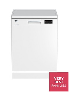 Beko DFN16420W 14-Place Freestanding Fullsize Dishwasher - White