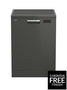 Beko DFN16420G 14-Place Freestanding Fullsize Dishwasher - Graphite Best Price, Cheapest Prices