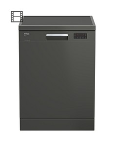 Beko DFN16420G 14-Place Freestanding Fullsize Dishwasher - Graphite