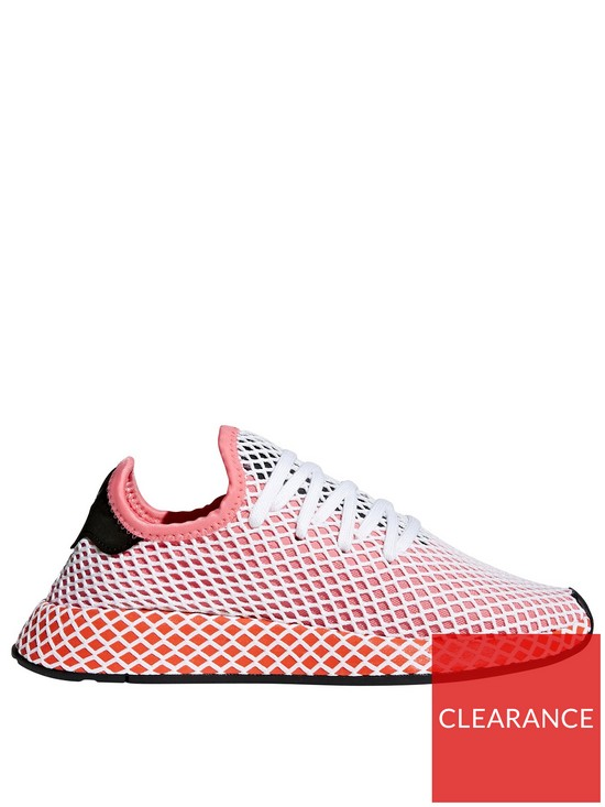 timeless design c1787 f9c81 adidas Originals Deerupt Runner Trainer - PinkWhite