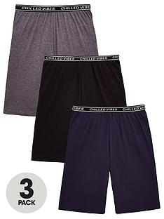 16e9734cf2 V by Very Boys 3 Pack Chilled Vibes Lounge Shorts - Multi