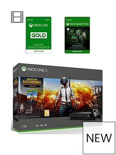 xbox-one-x-xbox-one-x-playerunknown039s-battlegrounds-bundle-6-months-games-pass-and-xbox-live-gold-membership-6-months