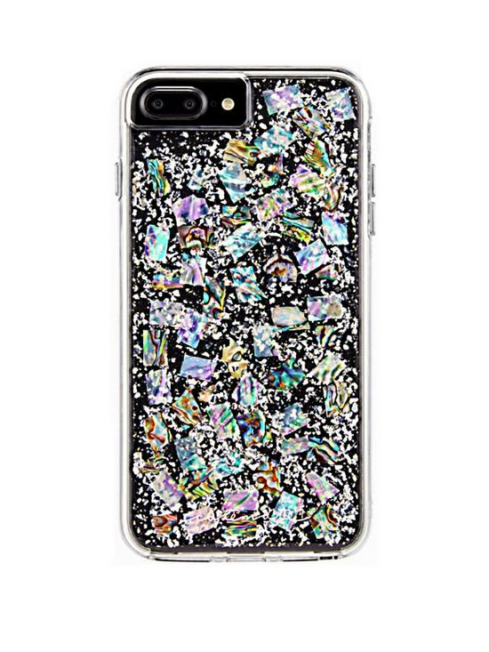 buy popular 84f26 63330 Karat Genuine Mother of Pearl Two-Piece Shock Absorbing Case for iPhone 8  Plus (also fits iPhone 7+/6+/6S)