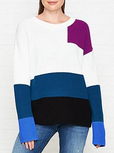 hugo-sarabi-colourblock-jumper-white