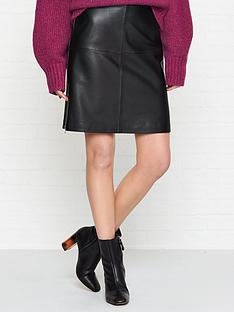hugo-libetta-leather-skirt-black