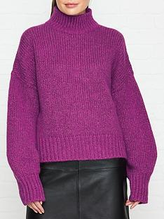 hugo-sacia-sparkle-jumper-purple