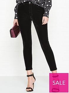 hugo-gernanbspvelvet-skinny-jeans-black