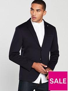 selected-homme-slim-fit-shaft-sportswear-blazer-navy