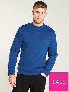 selected-homme-pique-lightweight-jumper-navy