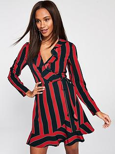 V by Very Striped Formal Wrap - Red 24a42d67c