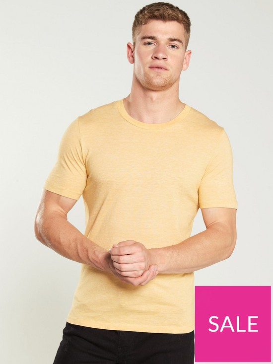 45f053adc474 Selected Homme Perfect Thin Stripe T-Shirt - Mango   very.co.uk