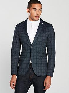 selected-homme-fred-checked-blazer-navy