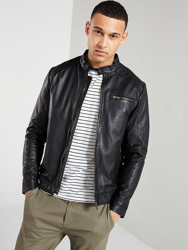 Lamb Leather Jacket Black