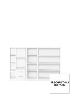 home-essentials--nbspmetro-3-piece-storage-bookcase-package-white
