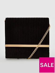 v-by-very-penny-ribbed-velvet-cross-body-bag-black