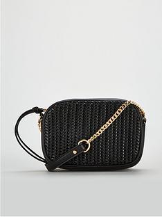 1c21c4b8f7f4 V by Very Panda Weave Panel Crossbody Bag