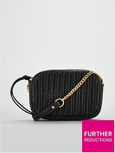 62a46e5bbf7a V by Very Panda Weave Panel Crossbody Bag