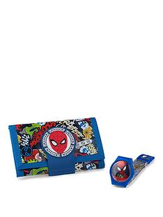 spiderman-spiderman-printed-digital-dial-printed-silicone-strap-kids-watch-with-spiderman-wallet-gift-set