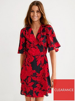 mango-floral-wrap-over-dress-red