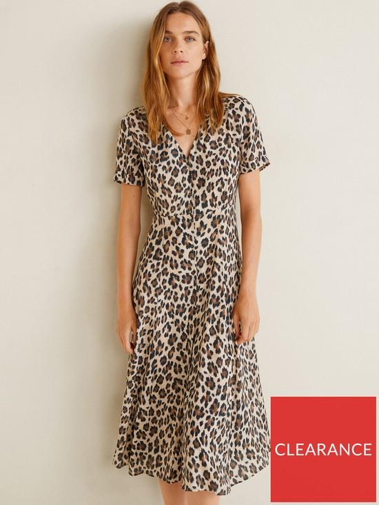 d532f8f5f2b6 Mango Leopard Print Midi Dress | very.co.uk