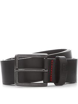 hugo-mensnbspgiononbspleather-belt-black