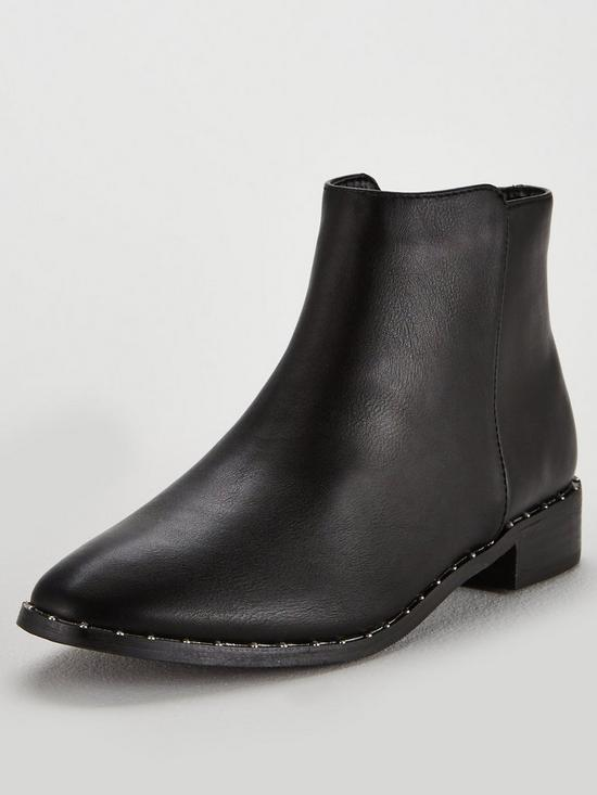 6d6242c38779 Oasis Selina Studded Chelsea Boot - Black | very.co.uk