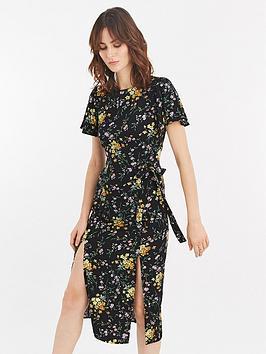 oasis-frieda-ditsy-split-hem-midi-dress