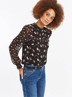 oasis-frieda-floral-patched-chiffon-top-print