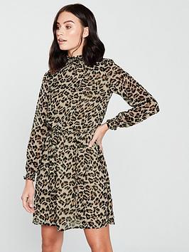 oasis-shirred-neck-dress-animal-print