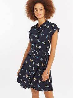 oasis-deer-hunter-bird-shirt-dress-navynbsp