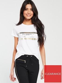 barbour-international-blackflagnbspmetallic-logo-t-shirt-white