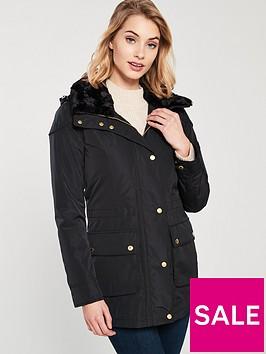 barbour-international-garrison-fauxnbspfur-zipper-jacket-black
