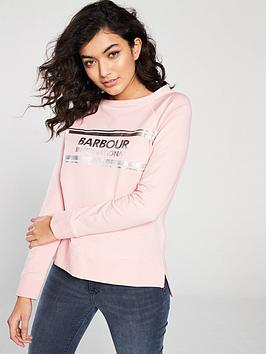 barbour-international-pitch-sweat-top-rose