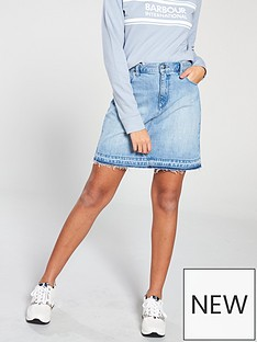 barbour-international-league-denim-skirt-light-wash
