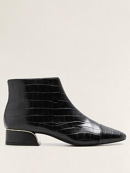 Mango Gold Heel Boot